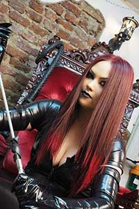 Redhead dominatrix